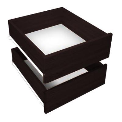 Levné Příslušenství k nábytku: Šuplíky do skříní UNI - wenge