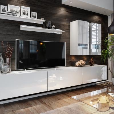 Levné Obývací stěny: Moderní obývací sestava BRADT 1 - bílá