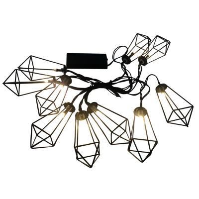Levné Světelné dekorace: LED světelný řetěz na baterie MINNESOTA, 10xLED, 2xAA, 2,1m, černý