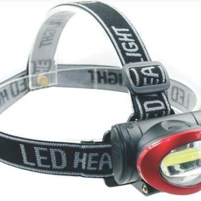 Levné Svítilny a čelovky: LED čelová svítilna CHIKO, 3W, 180lm, 3x AAA, 3 režimy
