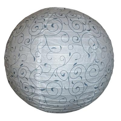 Levné Lustry a závěsná svítidla: Papírové stínidlo HARMONY LUX, 40cm, koule, bílé