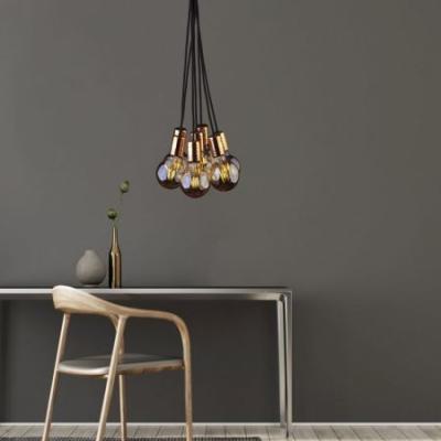 Levné Lustry a závěsná svítidla: Závěsné žárovky ve skandinávském stylu CABLE, E27, 7x60W