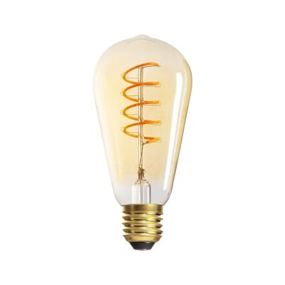 Levné LED žárovky: LED filamentová žárovka LUMINES, E27, ST64, 5W, extra teplá bílá