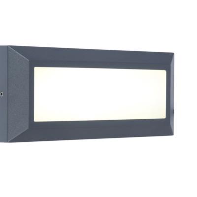 Levné Venkovní LED světla: Venkovní LED nástěnné osvětlení HELENA, 10,5W, denní bílá, IP54, šedé