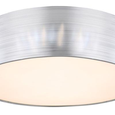 Levné Stropní svítidla: Stropní LED moderní přisazené osvětlení SINNI, 24W, teplá bílá-studená bílá, 40cm, kulaté, stříbrné