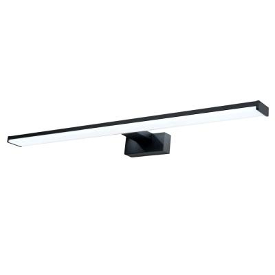 Levné Osvětlení do koupelny: LED osvětlení nad zrcadlo CHICAGO XL, 12W, denní bílá, 60cm, černé, IP44