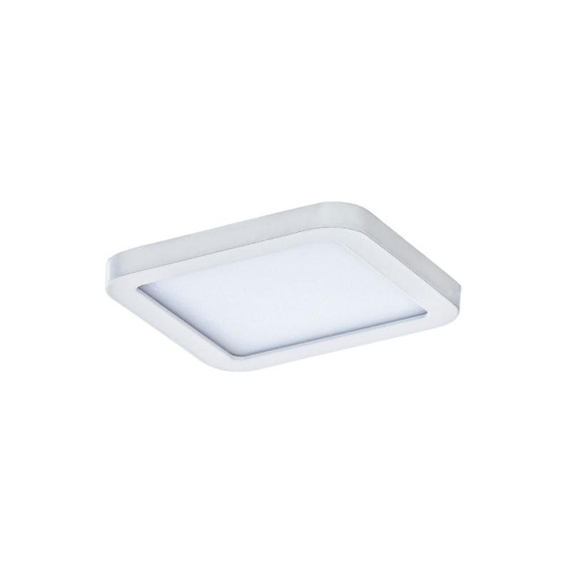 Levné Stropní svítidla: Stropní LED osvětlení do koupelny SLIM 9 SQUARE, 6W, teplá bílá, 8,5x8,5cm, hranaté, bílé, IP44