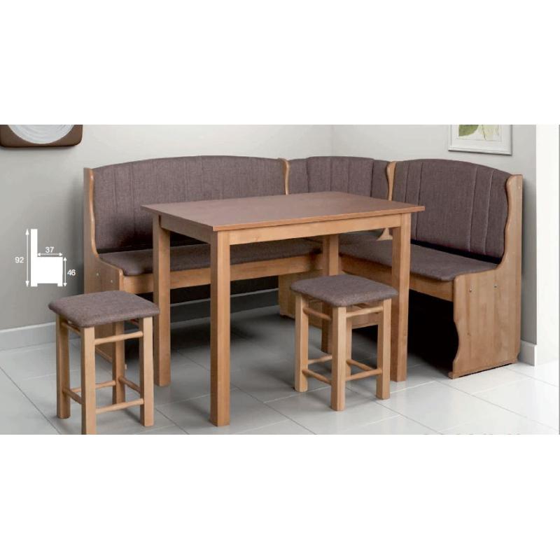 Levné Rohové jídelní lavice: Rohová jídelní lavice do kuchyně Iris 1