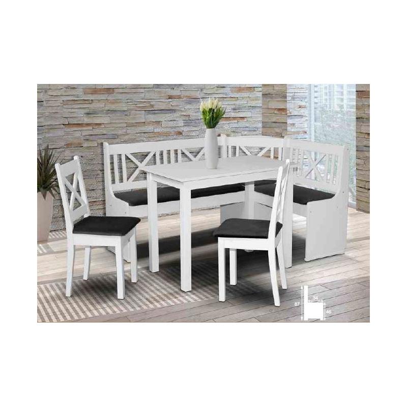 Levné Rustikální židle a stoličky: Jídelní židle bílá Valentin