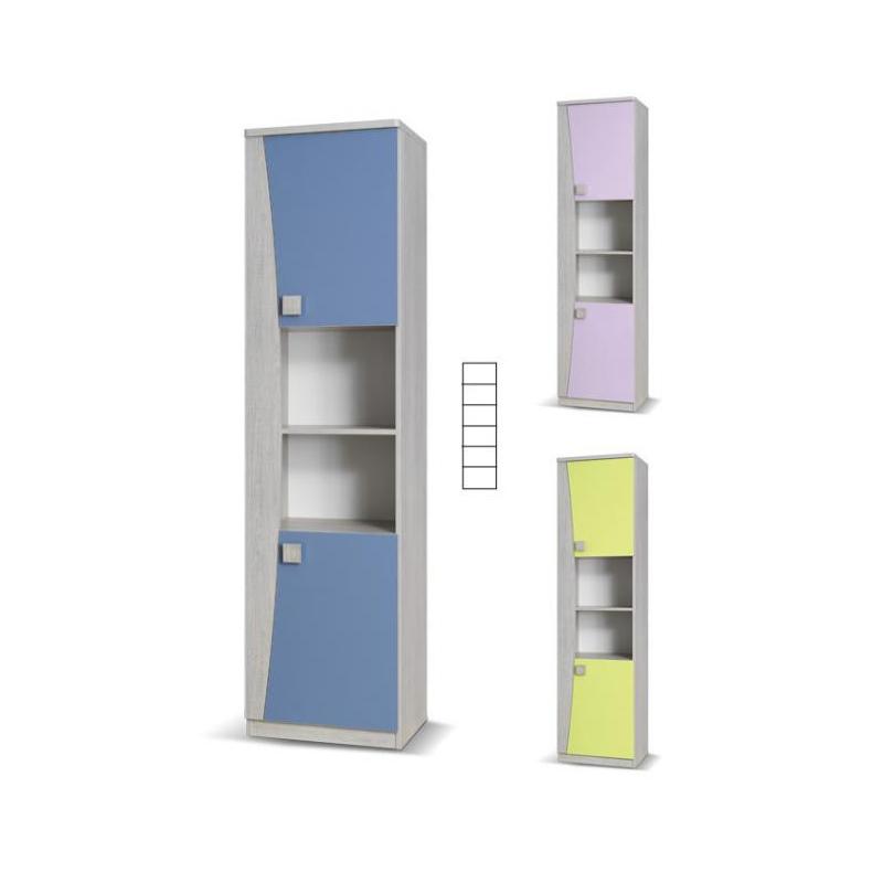 Levné Dětské skříně: Úzká dětská skříň (2x dvířka+2x police) Sebastian S IX.