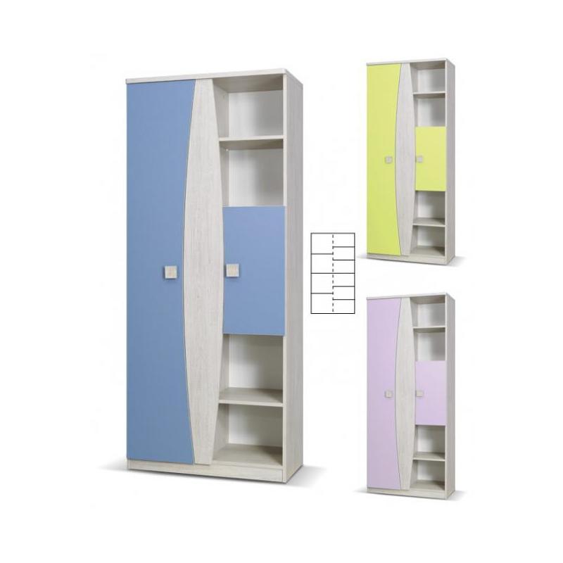Levné Dětské skříně: Dětská skříň s knihovnou - Sebastian S XI.
