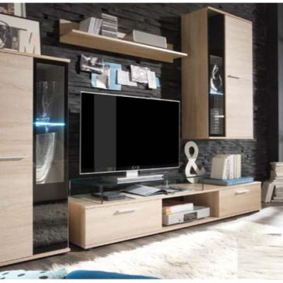 Levné Obývací stěny: Obývací stěna Ottaviano - dub sonoma - s LED osvětlením