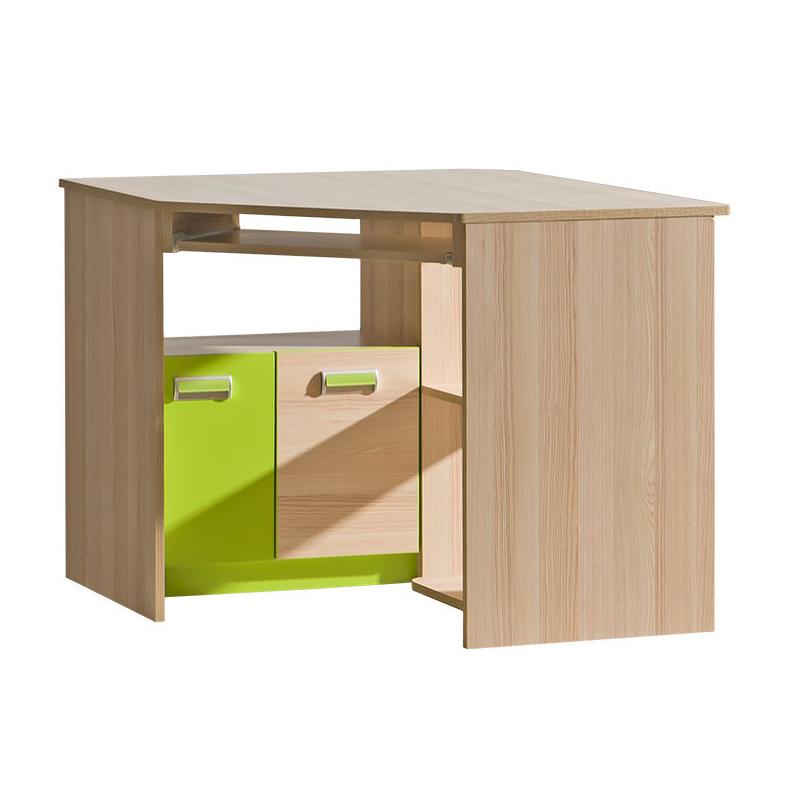 Levné Psací stoly do dětského pokoje: Rohový psací stůl Flue L11