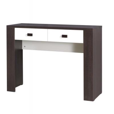 Levné Moderní stoly a stolky: Dvoubarevný toaletní stolek se šuplíky 2S Portogallo 16