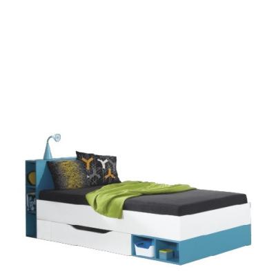 Levné Jednolůžkové postele s úložným prostorem: Barevná dětská postel Brindisi 18 bez matrace