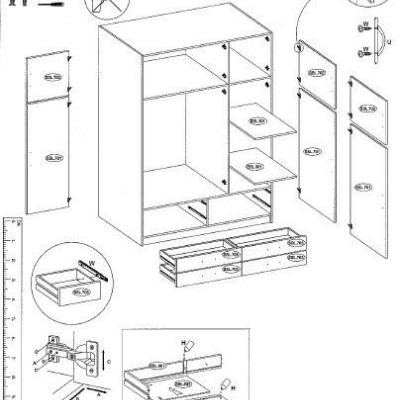 Levné Levné skříně a skříňky: Šatní skříň Giacomo - SONOMA