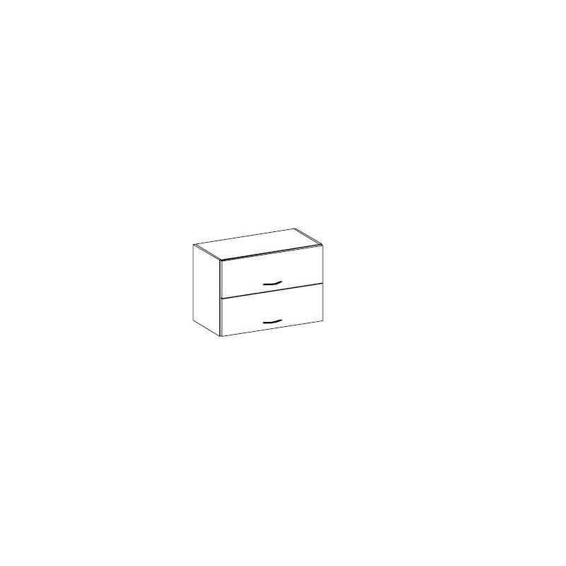 Levné Horní kuchyňské skříňky: Horní skříňka plná/plná otvírání nahoru 60cm. KAMELIA