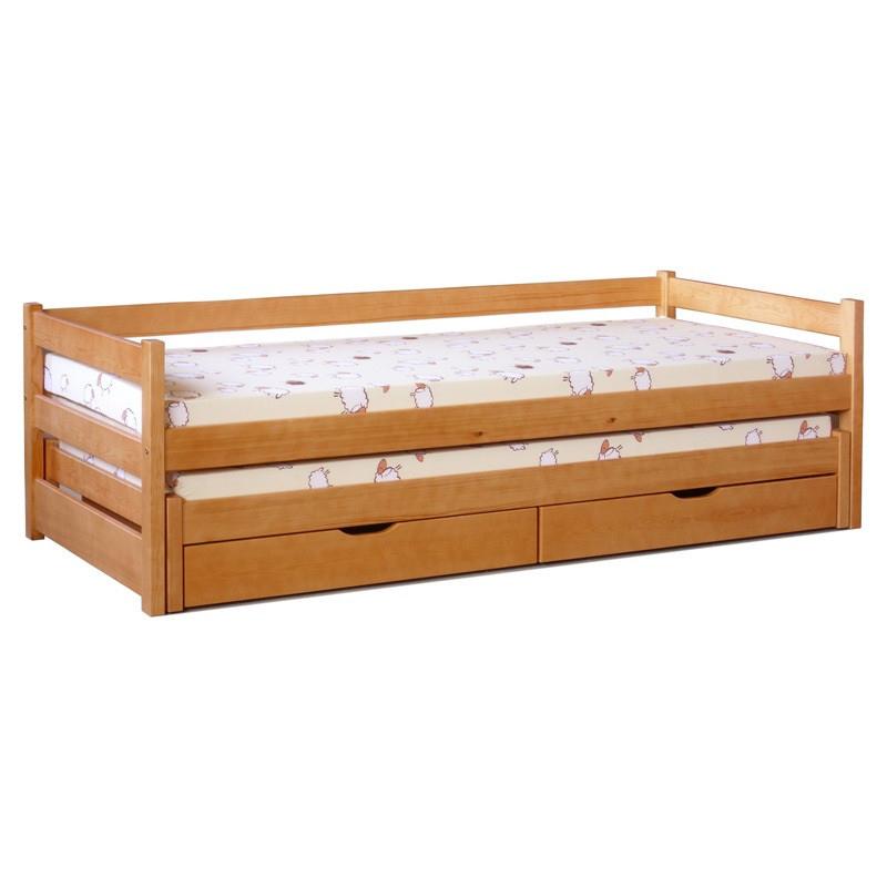 Levné Dětské postele s úložným prostorem: Dětské dvoulůžko Jessika