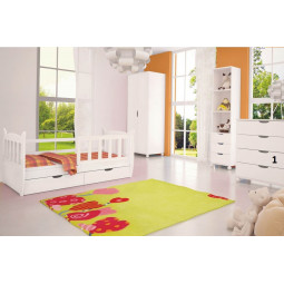 Bílá dětská komoda Herman 1 levné Sektorový dětský nábytek