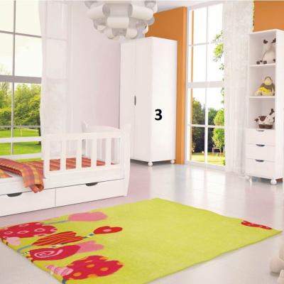 Bílá šatní skříň do dětského pokoje Herman 3 levné Dětské skříně
