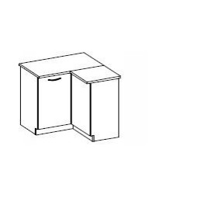 Levné Dolní kuchyňské skříňky: Spodní rohová skříňka Verner