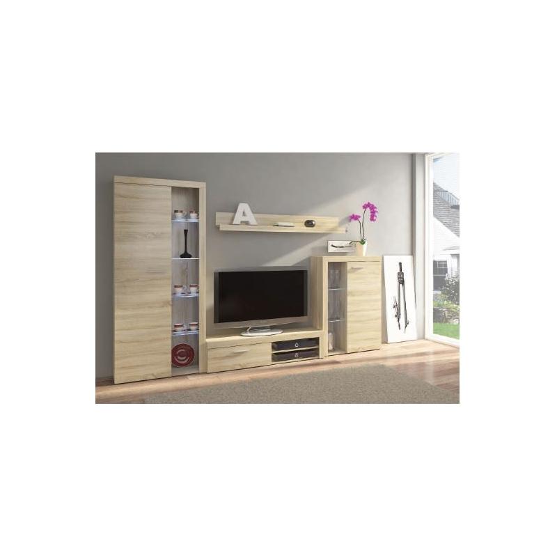 Levné Obývací stěny: Obývací stěna Jonna DUB SONOMA - s komodou