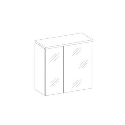 Zrcadlo se skříňkou Ippolito bílý lesk levné Koupelnové skříňky se ...