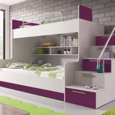 Levné Dětské postele: Patrová postel RAJEN 1 - s matracemi