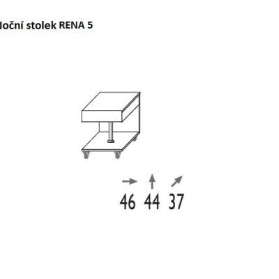 Levné Noční stolky: Noční stolek Gert 5