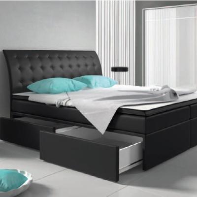 Levné Boxspringové postele: Kontinentální postel LEXY 180 s úložným prostorem