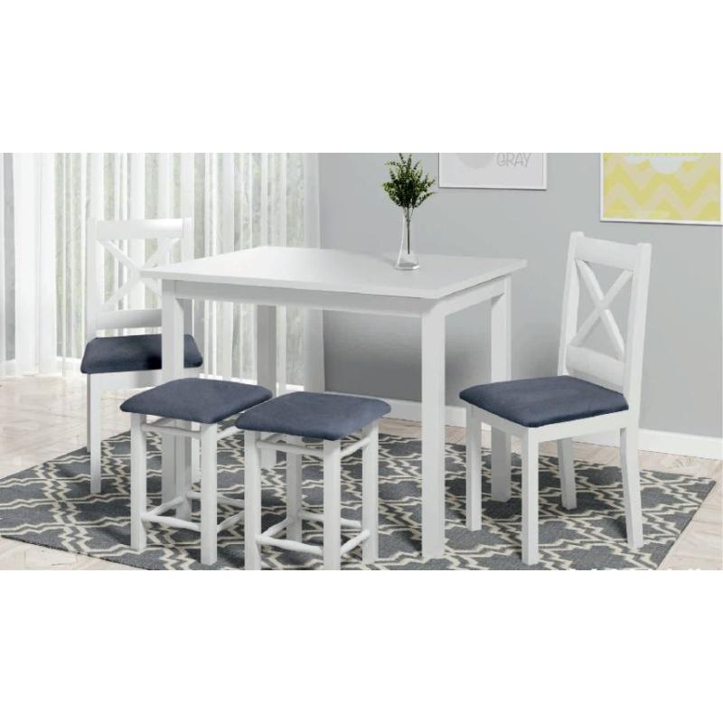 Levné Jídelní sety 4+1: Selský jídelní stůl a židle Marika