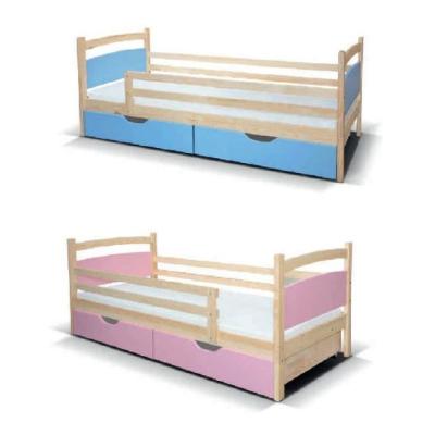 Levné Dětské postele s matrací a roštem: Dětská postel se zábranou Viola I - zelená
