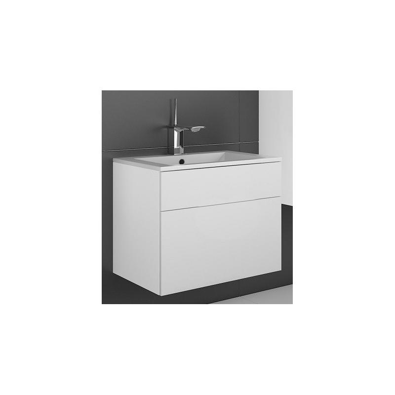 Levné Dolní koupelnové skříňky: Skříňka pod umyvadlo Ippolito bílý lesk