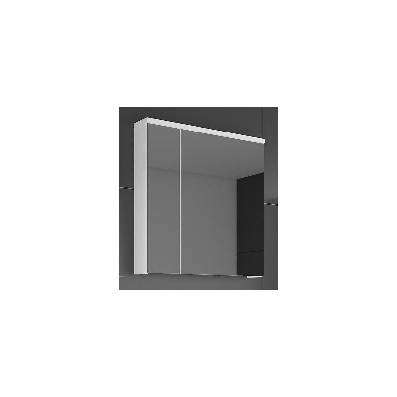 Levné Koupelnové skříňky se zrcadlem: Zrcadlo se skříňkou Ippolito bílý lesk