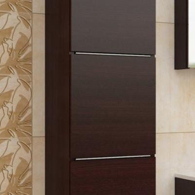 Levné Vysoké skříňky do koupelny: Skříňka závěsná Ippolito wenge bez LED osvětlení