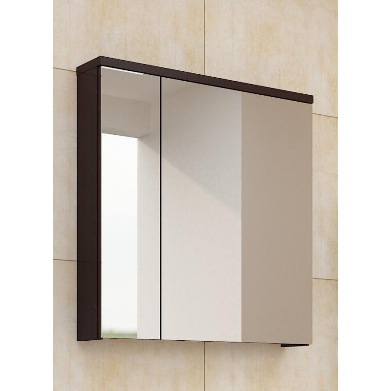 Levné Horní koupelnové skříňky: Zrcadlo se skříňkou Ippolito wenge
