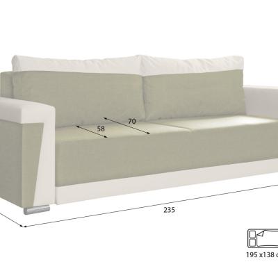 Levné Pohovky s úložným prostorem: Moderní rozkládací pohovka Roberto 21/511