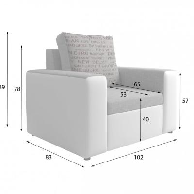 Levné Rozkládací sedací soupravy: Stylová sedací souprava s děma křesly Pietro F