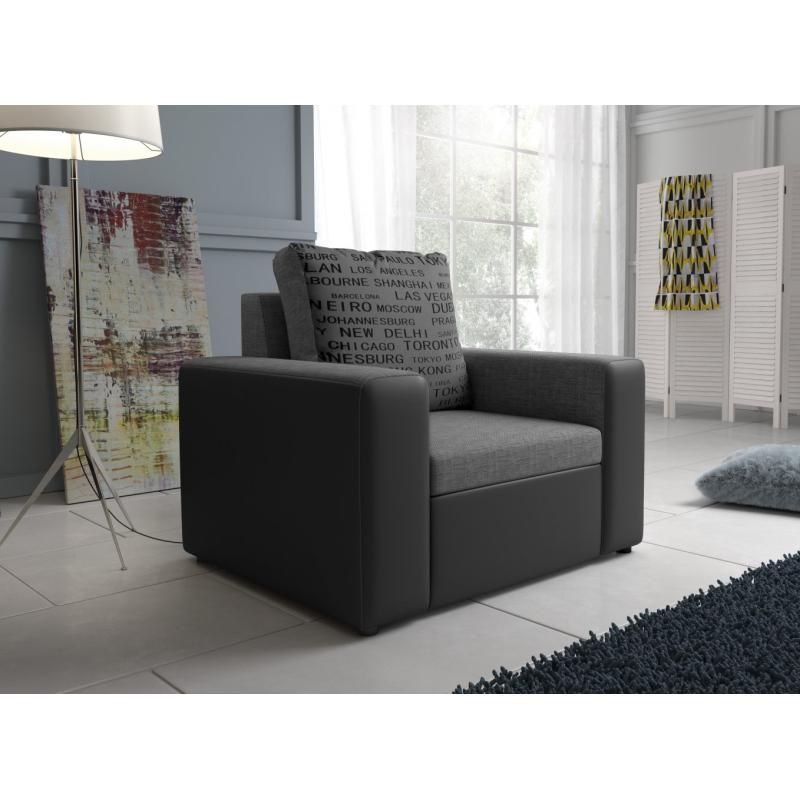Levné Křesla do obývacího pokoje: Stylové pohodlné křeslo Pietro E