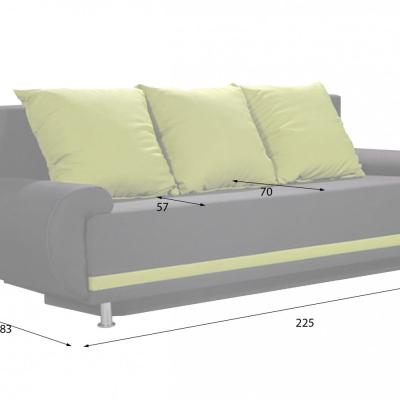 Levné Trojsedáky do obývacího pokoje: Retro rozkládací pohovka s úložným prostorem Amiterno 2/2