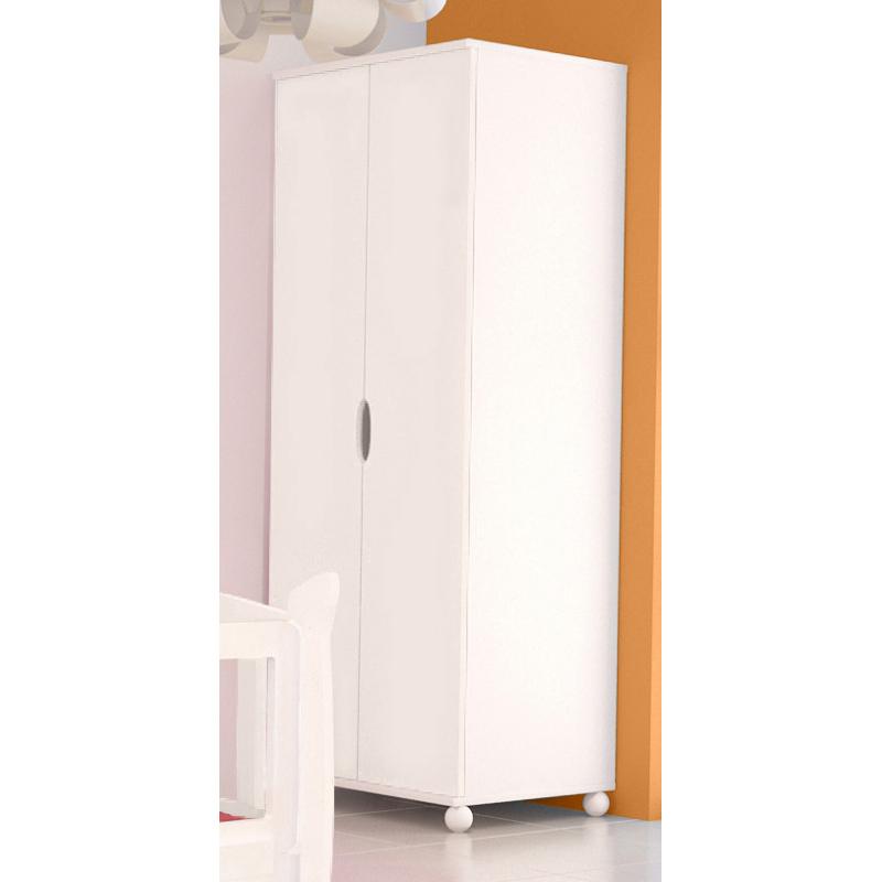Levné Dětské skříně: Bílá šatní skříň do dětského pokoje Herman 3