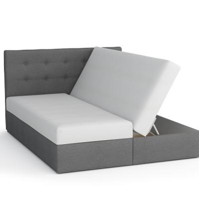 Levné Postele: Čalouněná manželská postel Sven s úložným prostorem