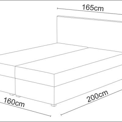 Levné Postele: Čalouněná postel boxspring STIG II. 160x200