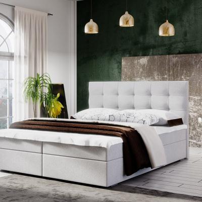 Levné Postele: Čalouněná postel boxspring STIG II.