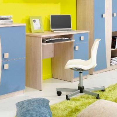 Levné Počítačové stolky: Dětský psací stůl Teodor ve dvoubarevném provedení
