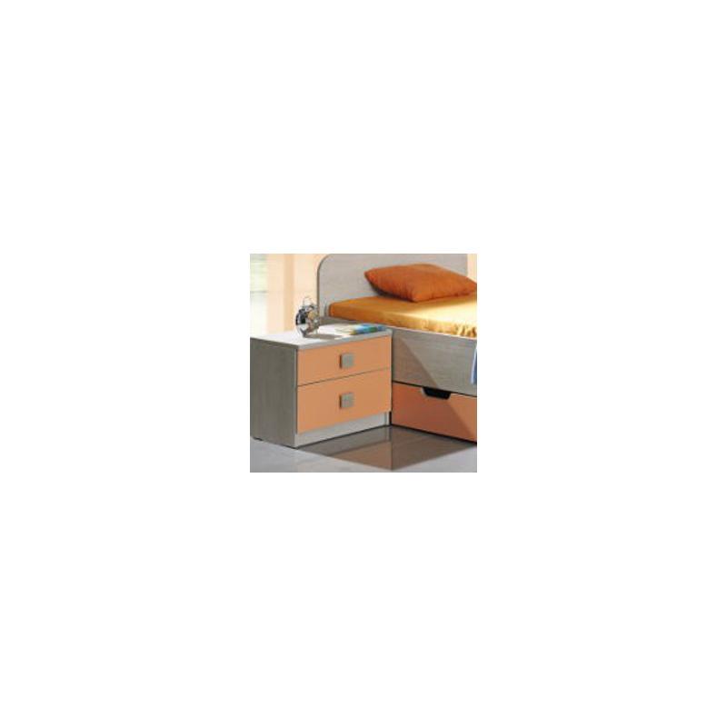 Levné Noční stolky z lamina: Malý noční stolek Teodor s šuplíky