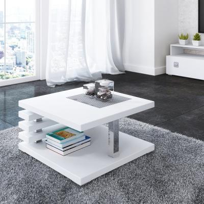 Levné Konferenční stolky: Konferenční stolek bílý lesk Anders