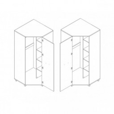 Levné Rohové šatní skříně z lamina: Rohová šatní skříň Allard 5