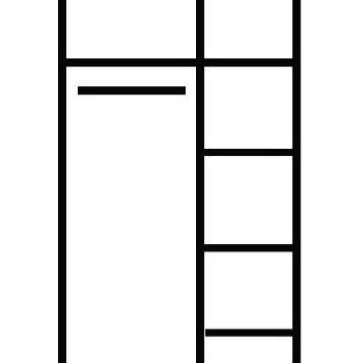 Levné Skříně do ložnice: Šatní skříň do ložnice Amanda 2