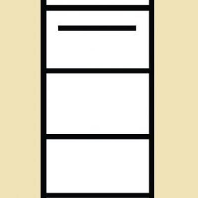 Levné Skříně a skříňky do obývacího pokoje: Úzká skříň Amanda 7